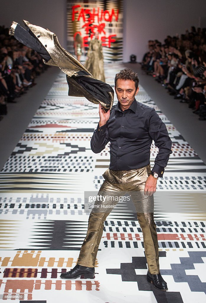 Bruno Tonioli walks the runway at the Fashion For Relief charity fashion show to kick off London Fashion Week Fall/Winter 2015/16 at Somerset House on February 19, 2015 in London, England. The Fashion For Relief show is in support of Ebola, raising funds and awareness for Disaster Emergency Committee: Ebola Crisis Appeal and the Ebola Survival Fund.