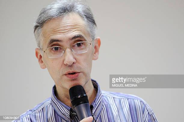 Bruno Toussaint cogeneral director of French health magazine Prescrire gives a press conference on January 17 2011 in Paris on nowbanned diabetes...
