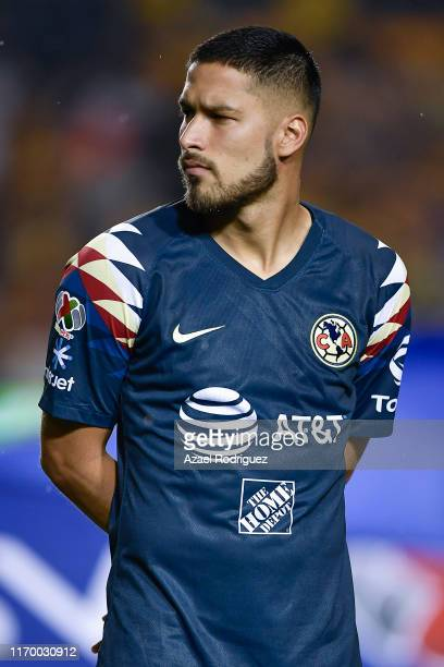 Bruno Valdez #18 of América pose priorduring the 6th round match between Tigres UANL and America as part of the Torneo Apertura 2019 Liga MX at...