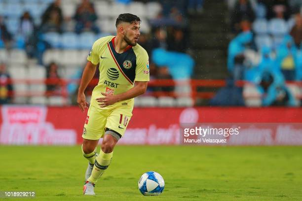 Bruno Valdez of America controls the ball during the third round match between Pachuca and Club America as part of the Torneo Apertura 2018 Liga MX...