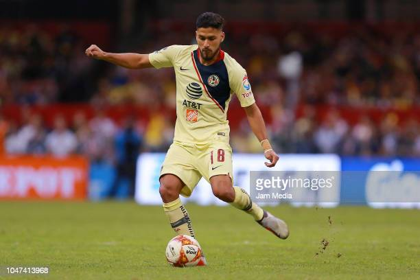 Bruno Valdez of America kicks the ball the ball during the 11th round match between America and Chivas as part of the Torneo Apertura 2018 Liga MX at...