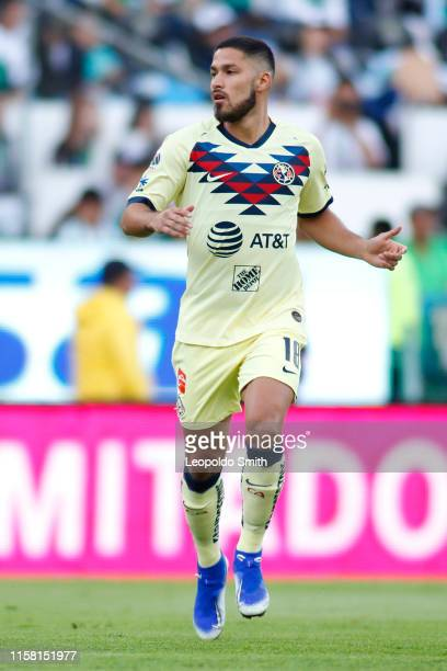 Bruno Valdez of America runs during the 2nd round match between Leon and America as part of the Torneo Apertura 2019 Liga MX at Leon Stadium on July...