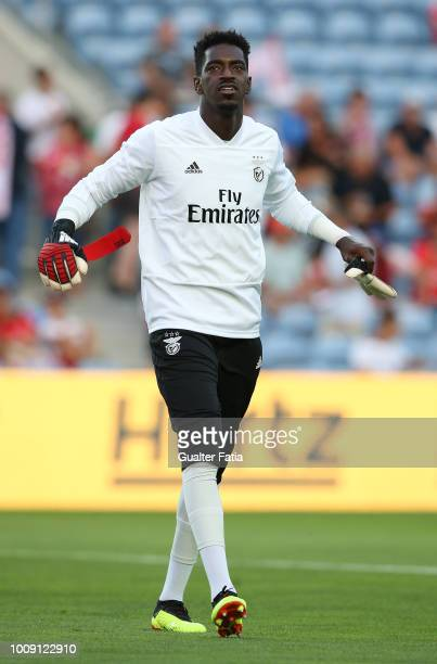 Bruno Varela from SL Benfica in action during warm up before the start of the International Champions Cup match between SL Benfica and Lyon at...