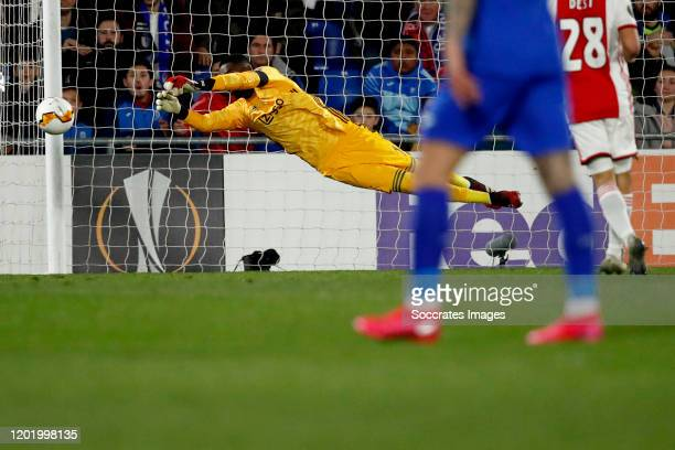 Bruno Varela of Ajax during the UEFA Europa League match between Getafe v Ajax at the Coliseum Alfonso Perez on February 20 2020 in Getafte Spain