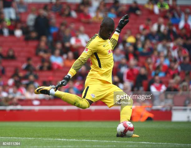 Bruno Varela of Sporty Lisboa e Benfica during Emirates Cup match between RB Leipzig against Benfica at The Emirates Stadium in north London on July...