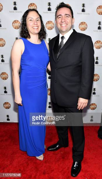 Bruno Velazquez and Erica Pinto attend the 46th Annual Annie Awards at Royce Hall UCLA on February 02 2019 in Westwood California