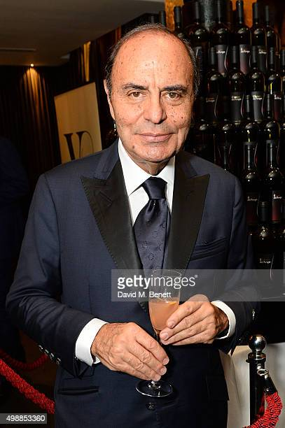 Bruno Vespa attends the Vespa wine presentation hosted by Angelo Galasso and Dylan Jones at the Baglioni Hotel on November 26 2015 in London England