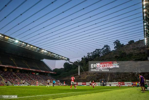 Bruno Viana of SC Braga in action during the Preseason friendly between SC Braga and Newcastle on August 1 2018 in Braga Portugal