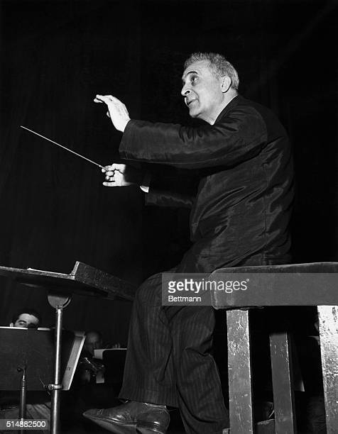 Bruno Walter during rehearsal with the New York Philharmonic Undated photograph