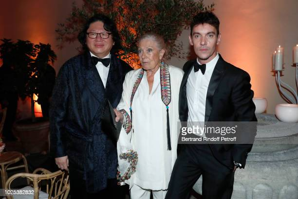 Bruno Wang Vanessa Redgrave and Jonathan RhysMeyers attend the Celebrazione Party By Chopard and Generali To Honor The 75th Venice Film Festival at...