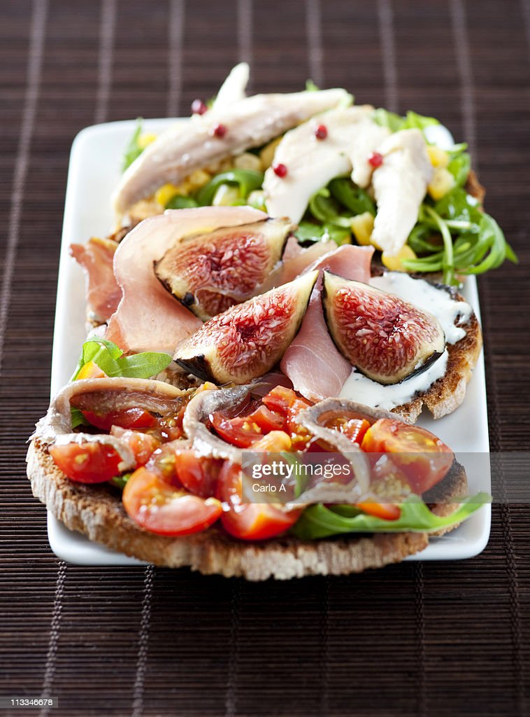 bruschetta : Stock Photo