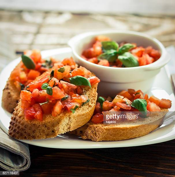 bruschetta - antipasto stock pictures, royalty-free photos & images