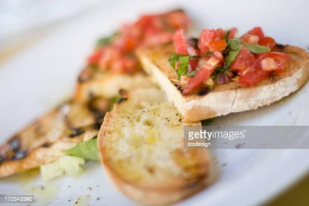 bruschetta toscana 02 - florence italy foto e immagini stock