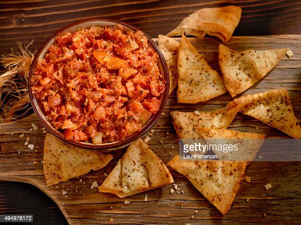 Bruschetta with Baked Pita Chips
