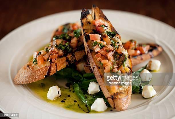Bruschetta with mozzarella and olive oil Bayfield Inn Bayfield WI
