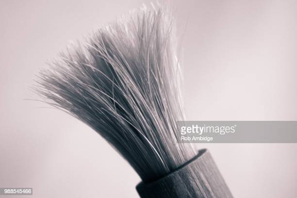 brush by the window - shaving brush stock photos and pictures