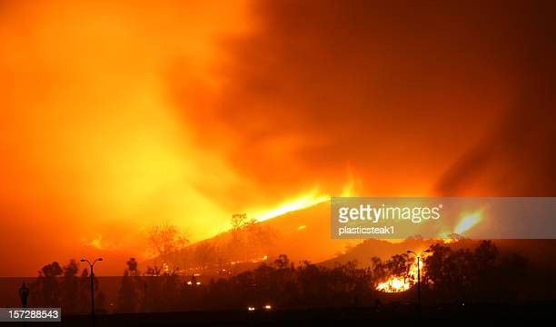 brush fire - california wildfire stock pictures, royalty-free photos & images