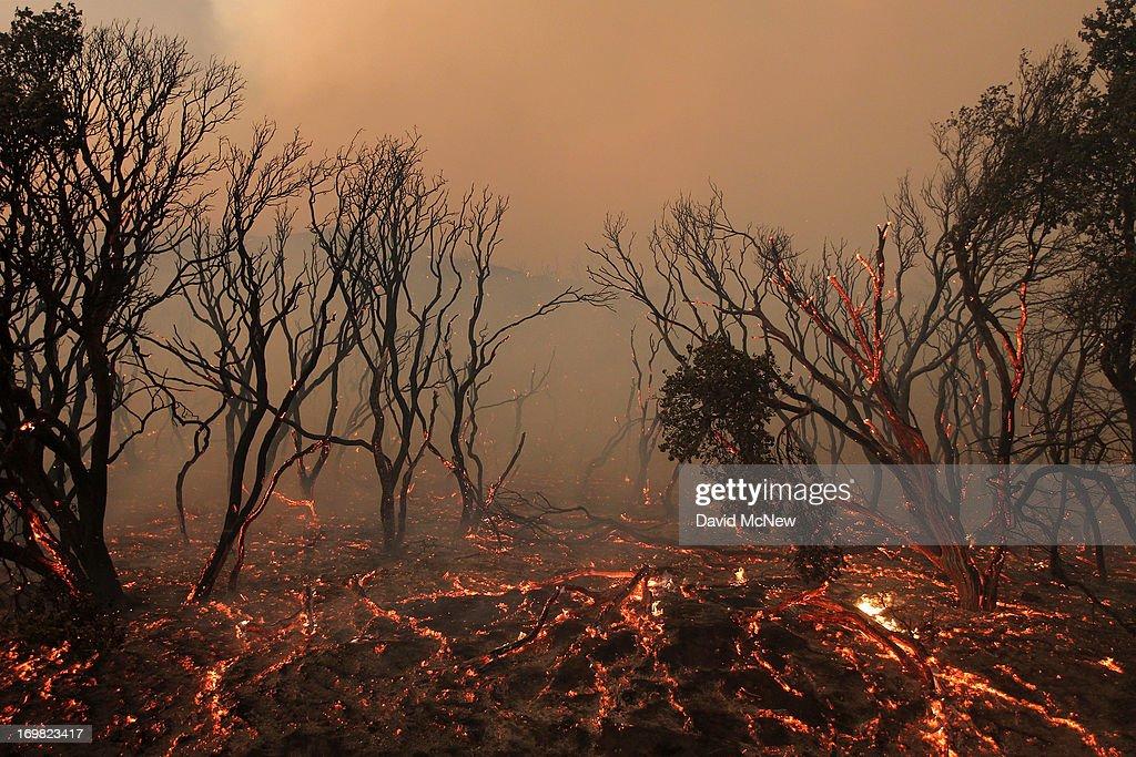 Wild Fire Burns Homes In Lake Hughes, California : News Photo