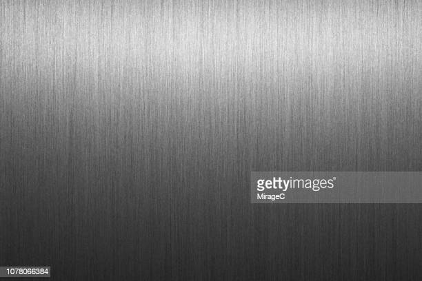 brushed metal alloy surface - silver metal stock pictures, royalty-free photos & images