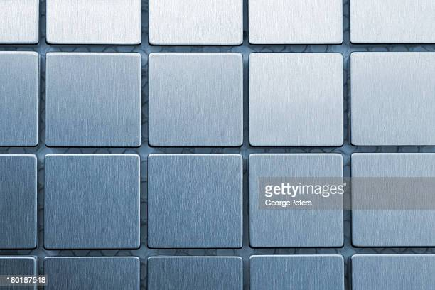 brushed metal squares - platinum stock pictures, royalty-free photos & images