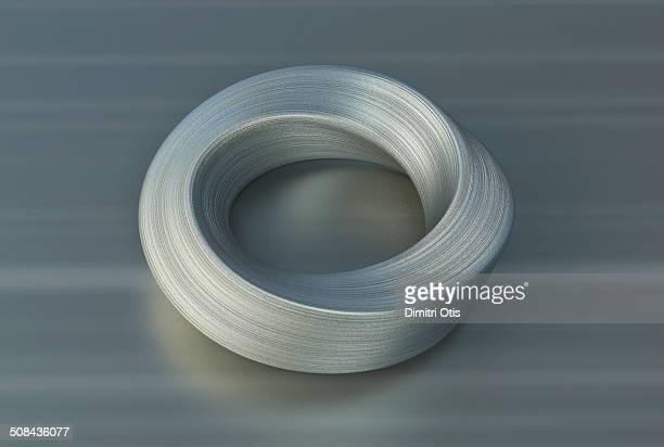 Brushed steel Möbius, mobius infinity curve