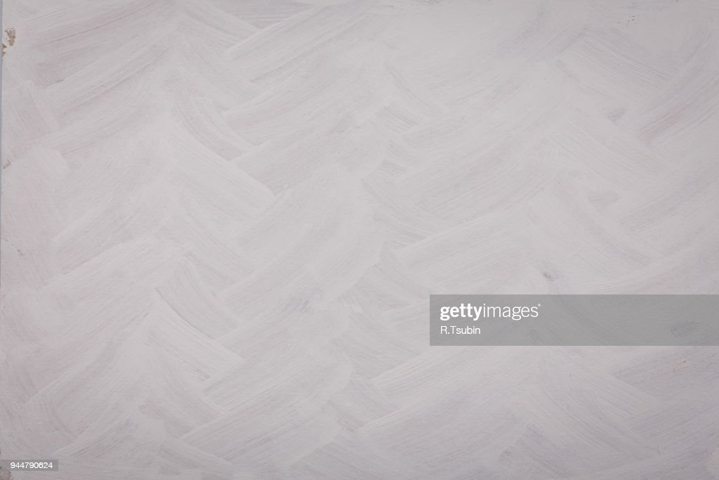 Brushed white painted wall : Stock Photo