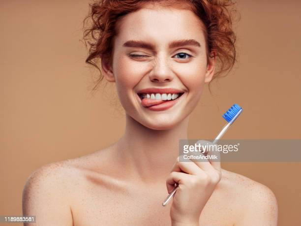 brushing teeth can be fun - toothy smile stock pictures, royalty-free photos & images