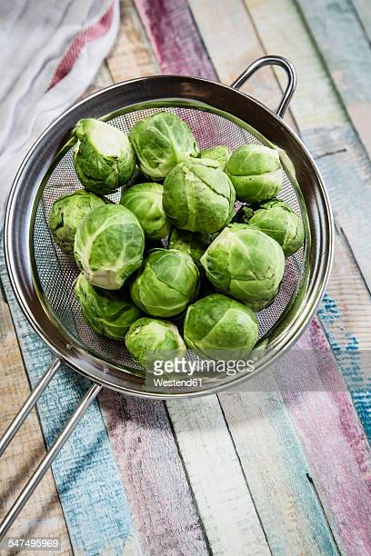 Brussel sprout in colander