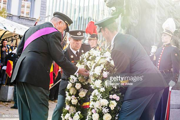 Brussels 11th november 2012 Armistice Day the day that the weapons fell silent in the Great War was marked in Brussels where King Albert of the...