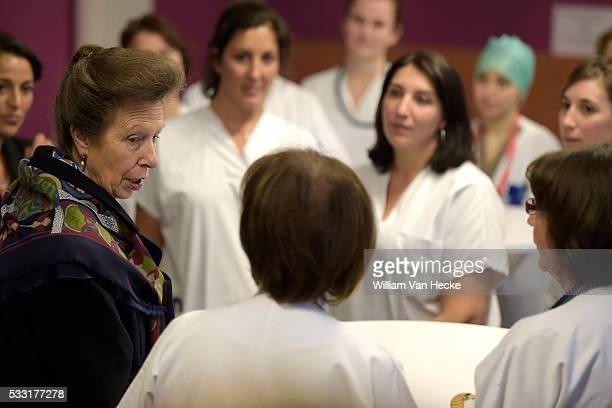 Brussels 12 / 10 / 2015 Commémoration du centenaire de la mort de l'infirmière britannique Edith Cavell la Princesse Anne de GrandeBretagne visite...