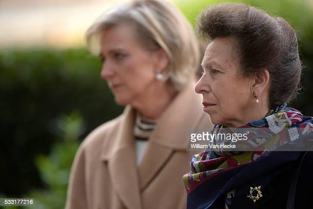 Brussels 12 / 10 / 2015 La Princesse Astrid assiste en compagnie de la Princesse Anne de GrandeBretagne aux cérémonies de commémoration du centenaire...