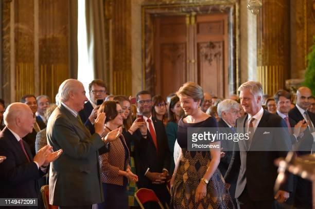 Brussels 12.06.12 - Cérémonie de remise du Prix Roi Baudouin pour le Développement en Afrique en présence du Roi et de la Reine - Uitreiking van de...