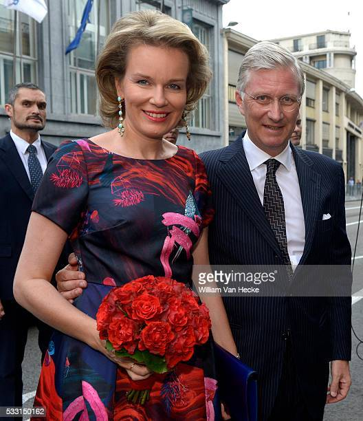 Brussels 20 / 07 / 2015 Concert gratuit de l'orchestre National de Belgique en prélude à la Fête nationale en présence du Roi Philippe de la Reine...