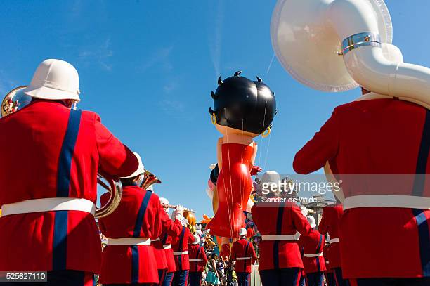 Brussels 8th September 2012 Balloon's day parade Brussels is one of many events during the cartoon days in Brussels Figures of cartoon characters of...