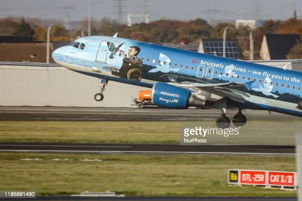 Brussels Airlines Airbus A320200 aircraft as seen on the taxiway taxiing and taking off from Zaventem BruxellesNational Airport on 19 November 2019...