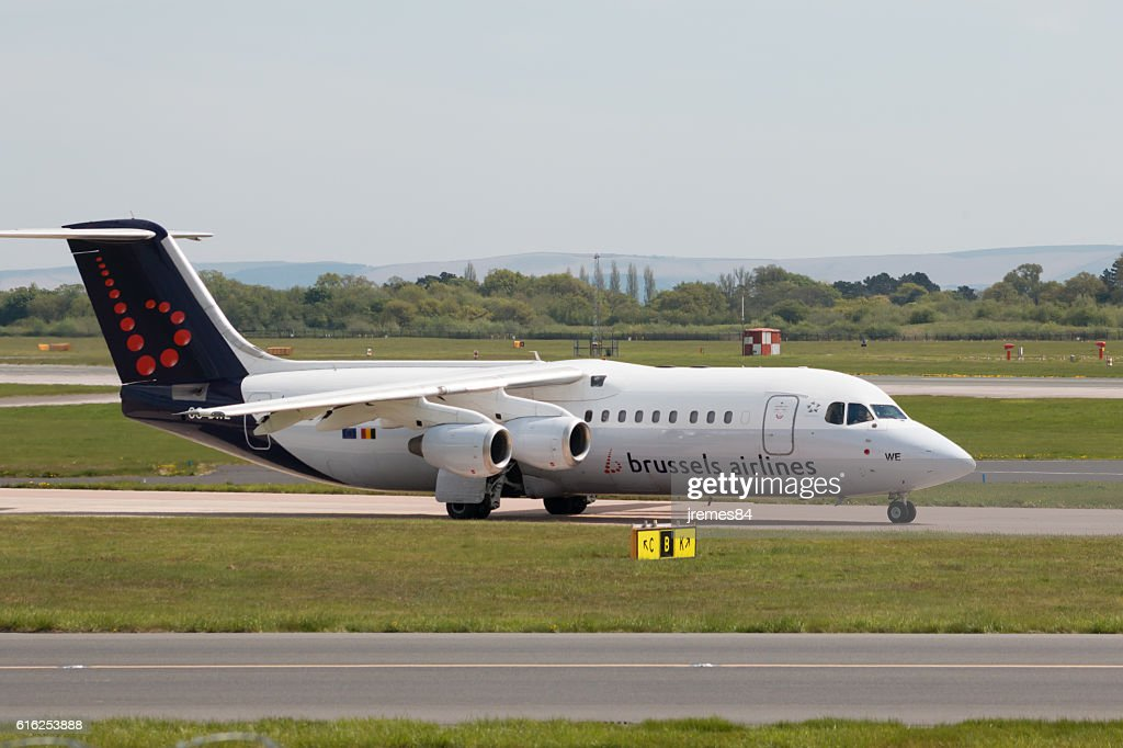 Brussels Airlines Avro RJ100 : Stock Photo