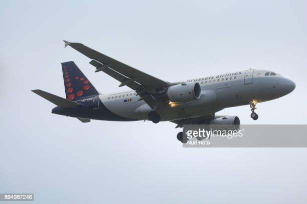 Brussels Airlines fleet as seen in Brussels International Airport Zavantem in a rainy day in early December 2017 Brussels Airlines is the flag...