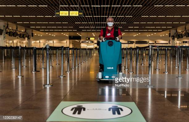 Brussels Airport resumes its passenger activities today In Zaventem - Belgium on 15 June 2020. The borders with neighboring countries are officially...