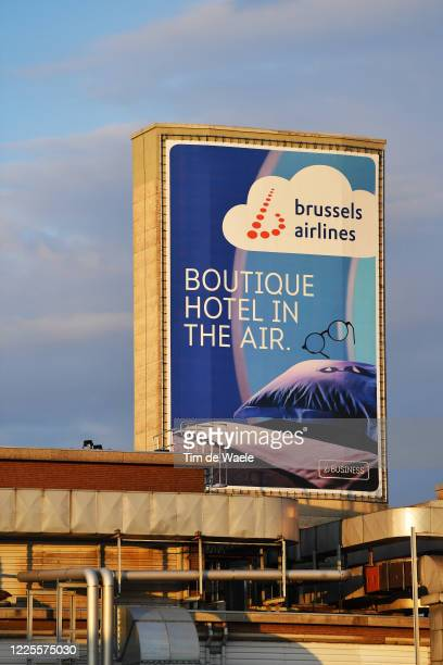 Brussels Airport under lockdown during the COVID19 Coronavirus pandemic on May 16 2020 in Brussels Belgium Flights and airport are expected to resume...