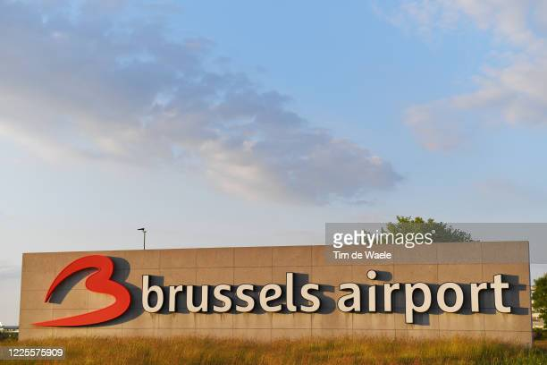 Brussels Airport under lockdown during the COVID-19 Coronavirus pandemic on May 16, 2020 in Brussels, Belgium. Flights and airport are expected to...
