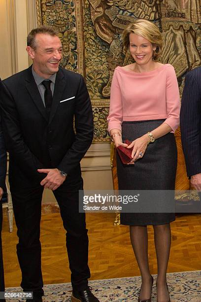 Brussels Belgium 23 oktober 2015 Queen Mathilde and King Filip of Belgium attend a meeting celebrating 70years of United Nations Belgium wants a seat...