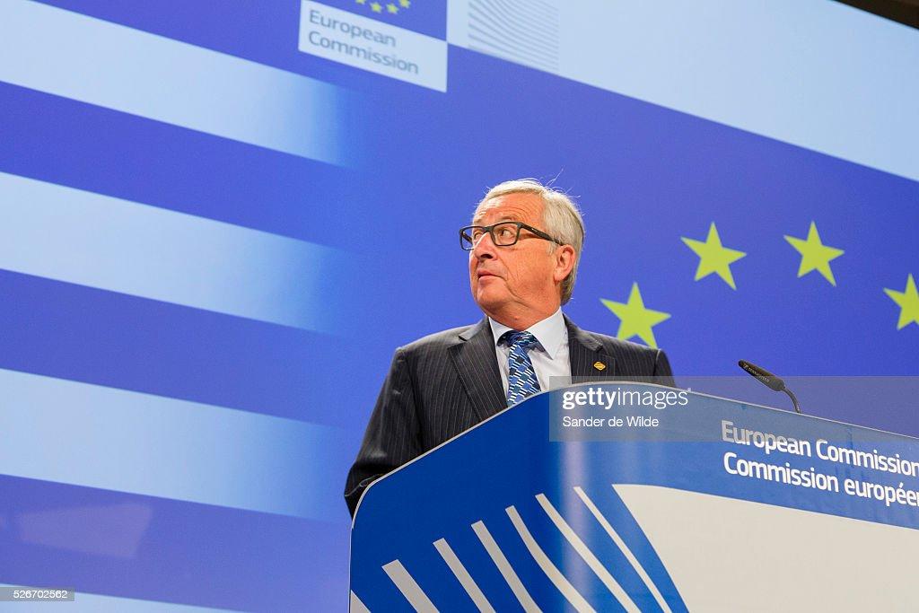 Jean-Claude Juncker defending role in Greek crisi : News Photo