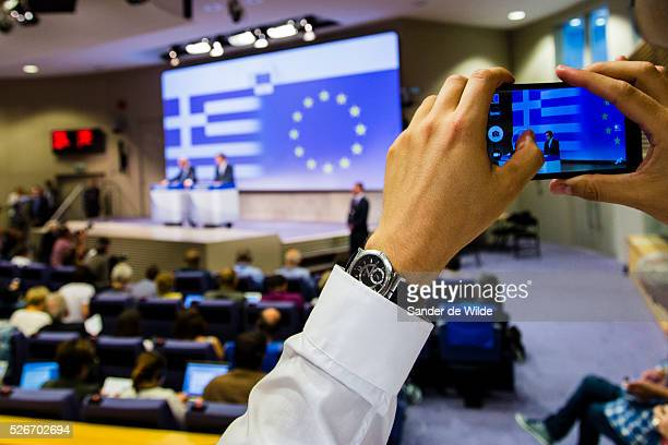 Brussels Belgium 29 June 2015The President of the European Commission JeanClaude Juncker has been defending his role in the Greek funding crisis...