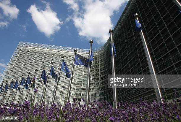 View of the Berlaymont building, headquarters of the European Union Commission, on the eve of a European Union summit 20 June 2007, in Brussels....