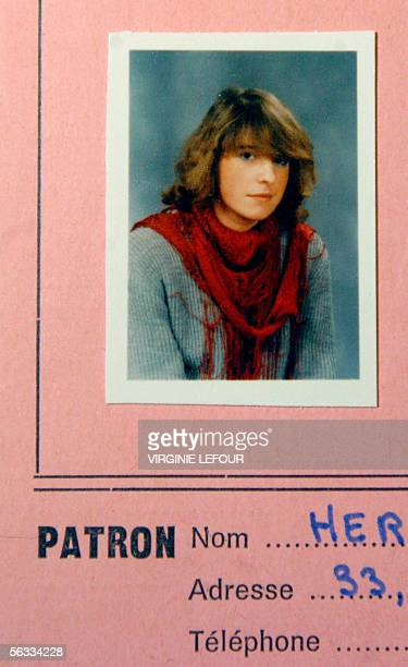 An undated file photo shows Belgian suicide bomber Muriel Degauque's identification card while she was at a bakery school Degauque blew herself up an...