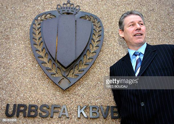 Belgium national team the Red Devils new coach Rene Vandereycken poses after a news conference at the KBVB/URBSFA Soccer Union 23 December 2005 in...