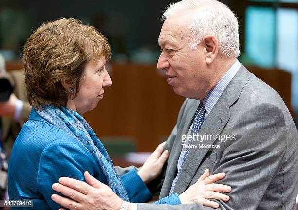 Brussels Belgium February 27 2012 European Union's High Representative of the Union for Foreign Affairs and Security Policy Catherine ASHTON Baroness...