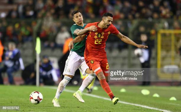 20171110 Brussels Belgium / International Friendly Game Belgium v Mexico / 'nCarlos SALCEDO Nacer CHADLI'nPicture by Vincent Van Doornick / Isosport