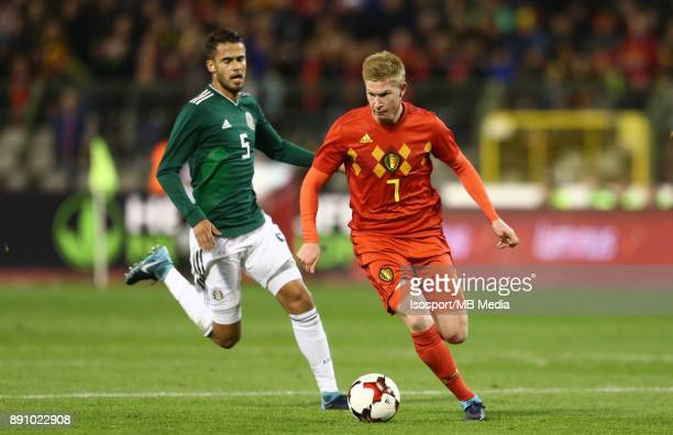 20171110 Brussels Belgium / International Friendly Game Belgium v Mexico / 'nDiego REYES Kevin DE BRUYNE'nPicture by Vincent Van Doornick / Isosport