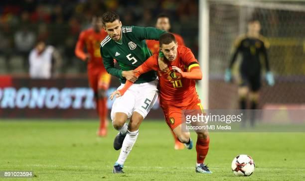 20171110 Brussels Belgium / International Friendly Game Belgium v Mexico / 'nDiego REYES Eden HAZARD'nPicture by Vincent Van Doornick / Isosport